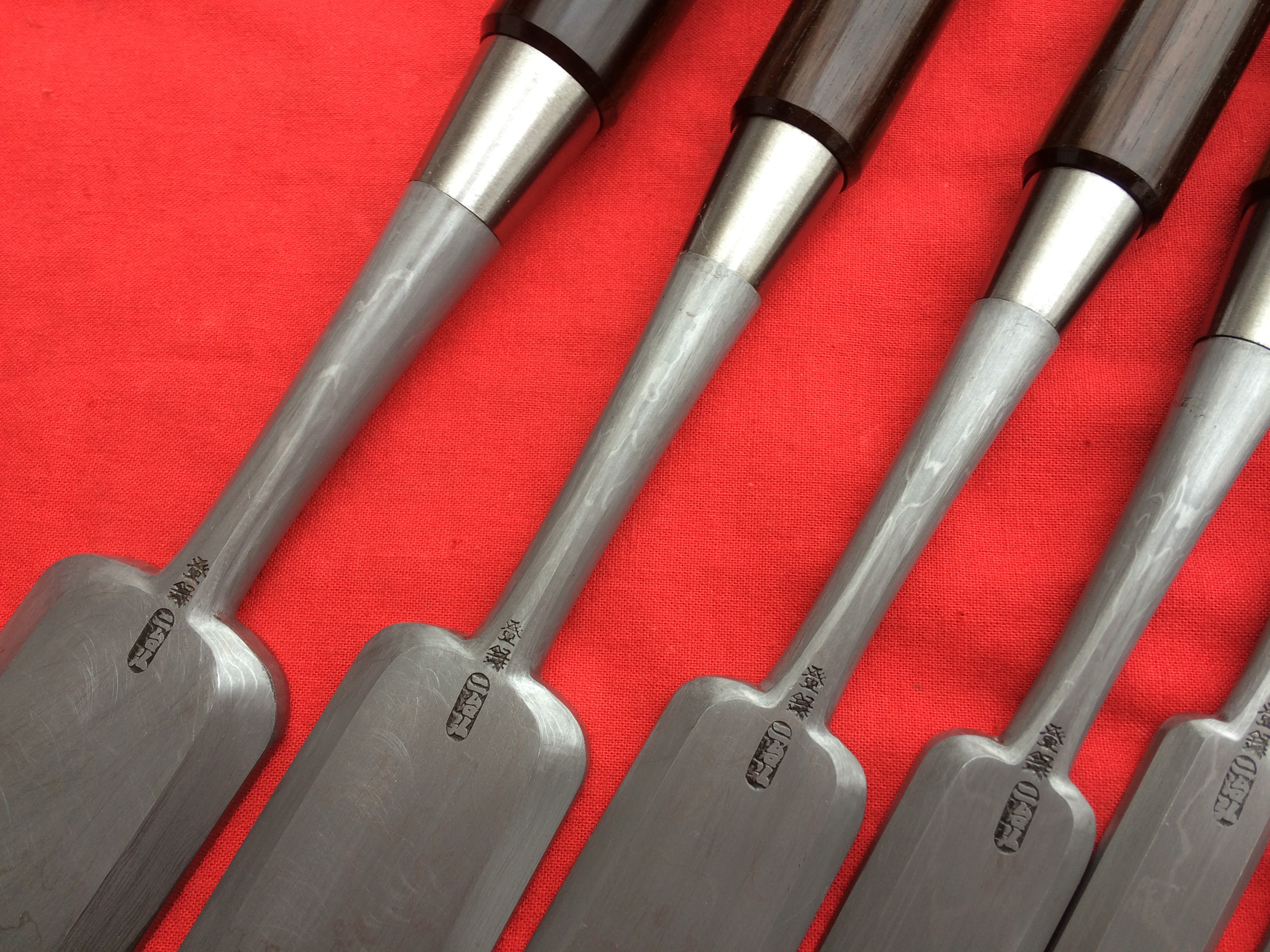 Set Of Ten Sword Steel Paring Chisels Very Thin Push
