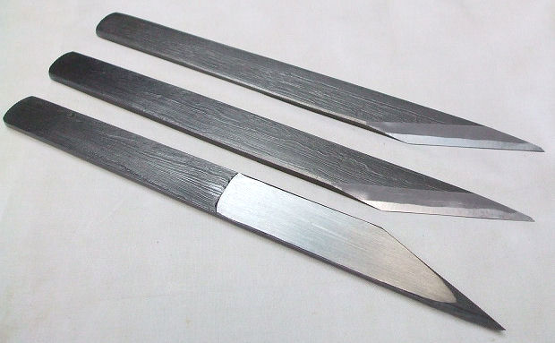 Mokume knife by Tsunesaburo